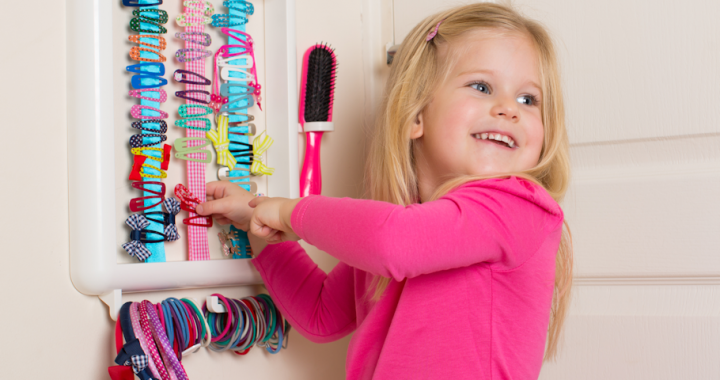 Little Girls Love Hair Accessoires and their special place to put them!