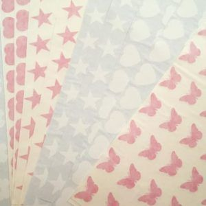 Extra motif stickers - stars, hearts and butterflies